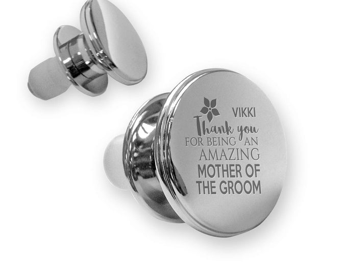 Personalised engraved MOTHER of the GROOM deluxe wine bottle stopper wedding thank you gift idea, mirror plated - WD12