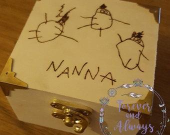 Custom Keepsake Box, Keepsake Box, Gifts For Nanny, Keepsake, Gifts For Adults, Gifts for Mum, Gifts For Nanny, Gifts For Dad, Personalised