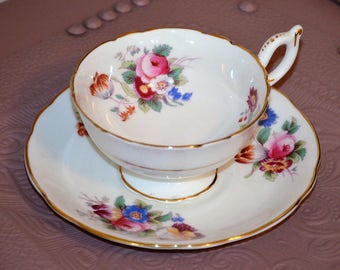 "English Bone China Cup and Saucer by ""Coalport"""