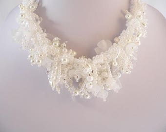 Wedding Jewelry.Stunning statement necklace.Unique and Delicate.