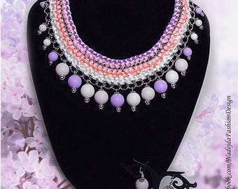 Lilac/ First Love /Time for a Fresh Look / Spring / Double 2-Piece Set/ Earrings / Necklace/ Schmuck/ Ohrringe/ Kette