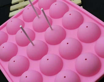 20 Capacity Cake Pop Silicone Mold & Sticks
