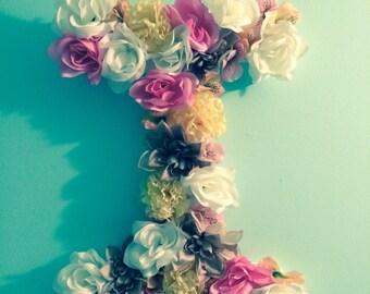 """17"""" Flower letter initial"""