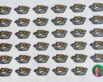 Laundry Calico Cat functional planner sticker sheet, Erin Condren, Recollections, Happy Planner (HW2)