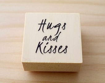 CLEARANCE SALE - Rubber stamp - Hugs and kisses