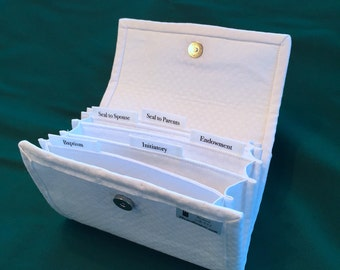 LDS Family File Card Keeper White