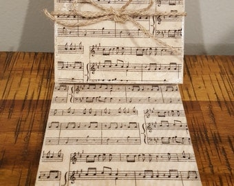 Set of 4 travertine tile coasters Sheet Music design