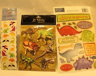 HUGE dinosaur sticker lot~Perfect for scrapbooking