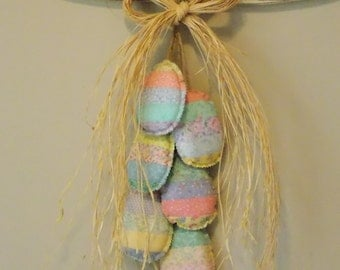 Pastel Easter Egg fabric wall hanging