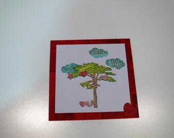 Valentine's Day card 'tree' 3D