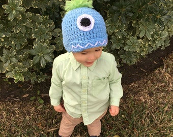 Toddler monster hat (size 1-3 years)