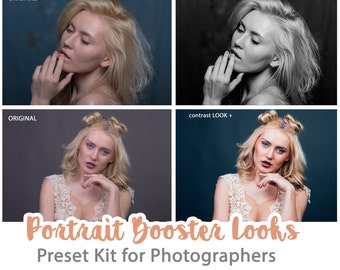 Portrait Booster Looks Lightroom Presets for Lightroom Skin Retouching Preset Adobe Lightroom