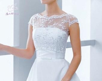Bridal top (bolero) short sleeve
