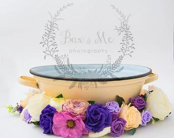 Floral digital bowl backdrop