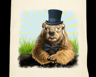 Ground Hog Day tee-towel