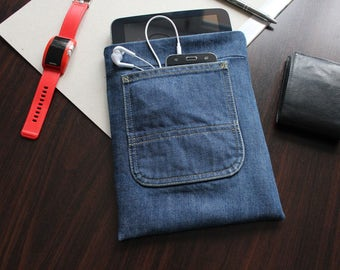 iPad 1 case, iPad 2 case, iPad 3 case, iPad 4 case,  iPad Sleeve, Tablet Case, cover,  gifts, gift for men, vinatge jeans, accessories, ipad
