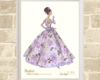 Vintage Poster / Barbie / High Quality Digital Print / 46cm x 61cm