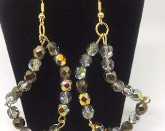 Venezia Crystal Rondelle Beaded Dangle Earrings