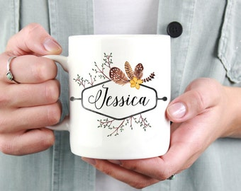 Personalized Name Mug - Bridesmaid Mug - Custom Name Coffee Mug
