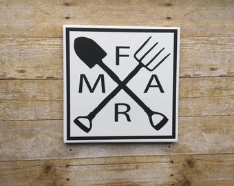 Farmhouse Farm Tools sign, Farmhouse Decor , FARM , Black & White wood sign , SIGN , Farm Tools , FARMHOUSE