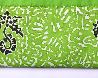 Batik Banyuwangi Green Pouch