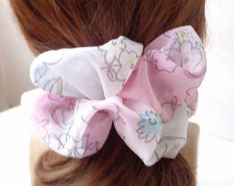 Scrunchies scrunchy scrunchie floral pink hair  Scrunchie, Chouchou, hair accessories, handmade by ScrunchiesCo