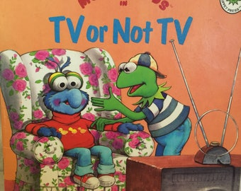 1989 Muppet Press Book, Muppet Kids, TV or Not TV