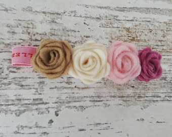 Romantic rose hair clip