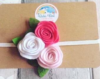 Baby Girl's Handmade Felt Flower Headband