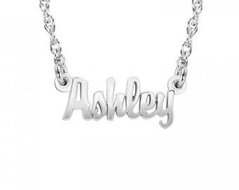 Mini Script One Name Necklace