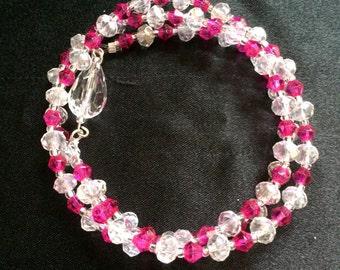 3 in 1 - Necklace, Bracelet or Elastic - Crystal - Swarovski...