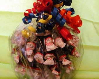 Tootsie Roll Bouquet - Centerpiece, Candy Arrangement, Special Occasion Gift, Holiday Gift, Edible Gift