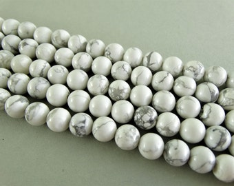 8 mm howlite beads white beads semi gemstone beads natural beads jewelry supplies smooth round beads marble beads 8 mm magnesite beads white