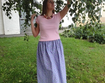 "Cotton skirt ""Misty morning"""