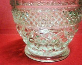 Vintage Depressed Glass Sugar/ Jam Bowl