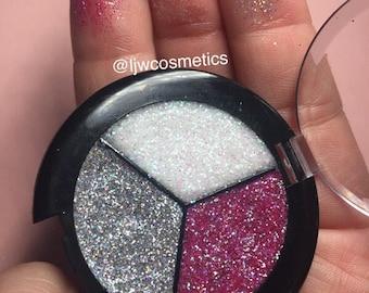 Pressed Glitter Eyeshadow Trio Compact