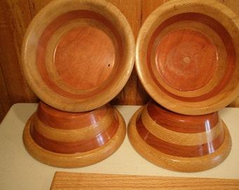 4 Wood Salad  Bowls  #47 free shipping