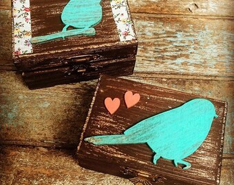 Country bird keepsake box