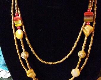 long 2 piece necklace set