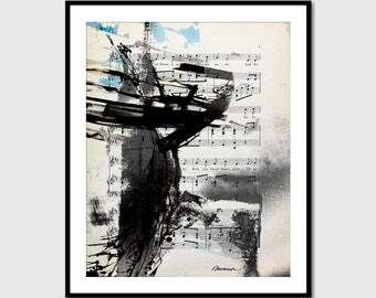 Printable painting watercolor pictures Black and white Acrylique Modern Painting, Wall Art Print, Modern Wall Decor, INSTANT DOWNLOAD.