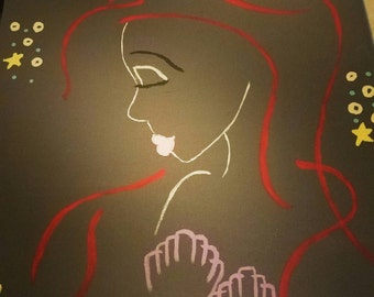 Ariel paint sketch