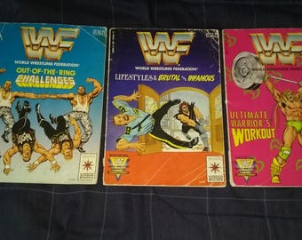 Set of 3 WWF COMIC BOOKS