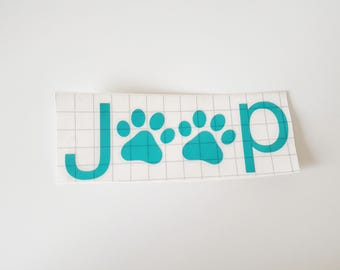 Jeep Decal, Animal Lover, Jeep Lover, Vinyl Decal, Jeep Wrangler, Jeep Accessories, Vinyl, Decals, Car Sticker, Custom Decal