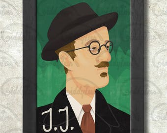 James Joyce Poster Print A3+ 13 x 19 in - 33 x 48 cm  Buy 2 get 1 FREE