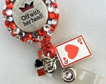 Off With Her Head- Alice in Wonderland Badge Reel