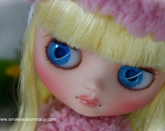 Custom Blythe Dolls For Sale by Free shipping - Custom blythe middie size - nellie nibbles by smileseason.macy /カスタムブライス/doll faceup/doll Makeup/doll dress/doll dolloutfits