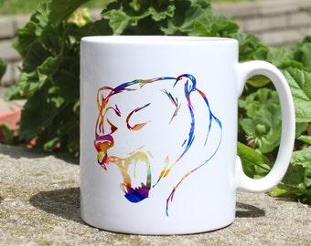 Bear mug - Animal mug - Colorful printed mug - Tee mug - Coffee Mug - Gift Idea
