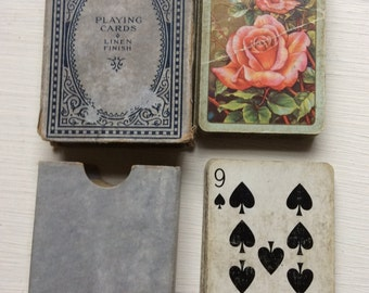 Old set of vintage playing cards.