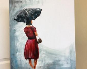 "Umbrella painting ""Rainy Day"""