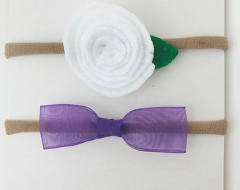 Felt Flower and Ribbon Bow